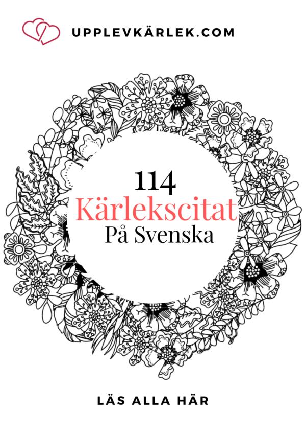 114 KÄRLEK CITAT PÅ SVENSKA – KÄRLEKSCITAT
