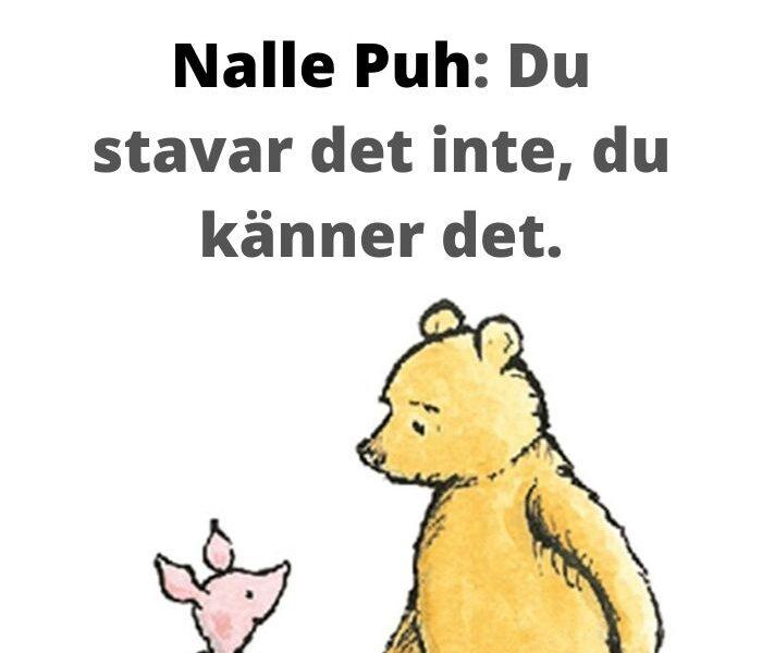 nalle puh citat svenska